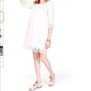 Ingrid & Isabel Lace Trim Bell Sleeve Dress NWOT S